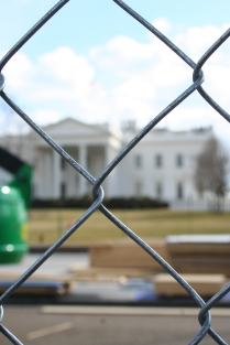 The White House and Fence