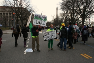 Mountain Justice and Washington Monument