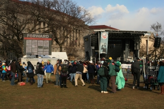 'Forward On Climate' Rally: Stage on the National Mall